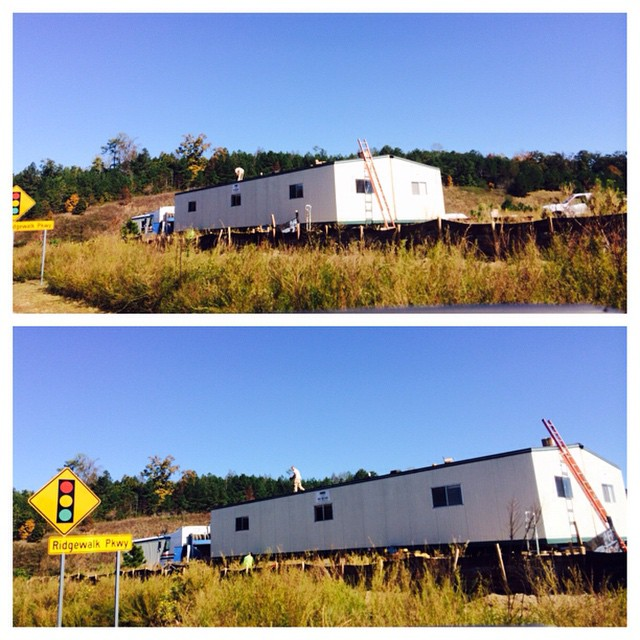 Have you noticed that the construction job trailers have made it on to our property? Very cool! #WatermarkeEveryone
