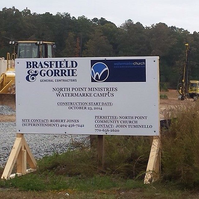 We are excited to partner with Brasfield & Gorrie on this building project. They do amazing work! #WatermarkeEveryone